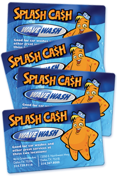 "Wave Wash ""Splash Cash"" Car Wash Gift Cards"